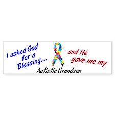 Blessing 3 (Autistic Grandson) Bumper Bumper Sticker