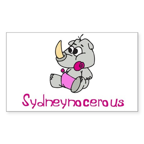 Sydneynocerous Rectangle Sticker