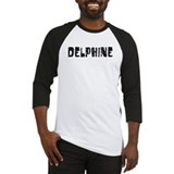 Delphine Faded (Black) Baseball Jersey