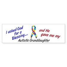 Blessing 3 (Autistic Granddaughter) Bumper Sticker