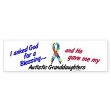 Blessing 3 (Autistic Granddaughters) Bumper Sticker