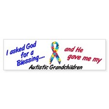 Blessing 3 (Autistic Grandchildren) Bumper Sticker