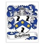 Schelling Family Crest Small Poster