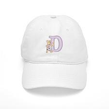 Teddy Alphabet D Purple Baseball Cap