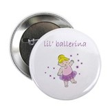 "Lil' Ballerina 2.25"" Button (10 pack)"