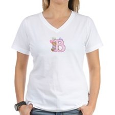 Teddy Alphabet B (bd) Pink Shirt