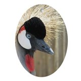 Helaine's Crowned Crane Ornament (Oval)