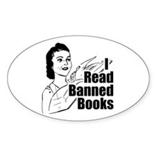 Read Banned Books Oval Stickers (50 pk)