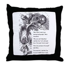 Mad People Throw Pillow