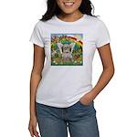 Rainbow & Shih Tzu Women's T-Shirt