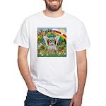 Rainbow & Shih Tzu White T-Shirt