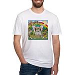Rainbow & Shih Tzu Fitted T-Shirt
