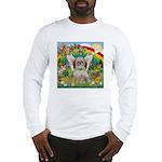 Rainbow & Shih Tzu Long Sleeve T-Shirt
