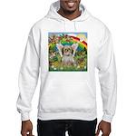 Rainbow & Shih Tzu Hooded Sweatshirt