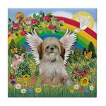 Rainbow & Shih Tzu Tile Coaster