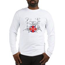 BRITISH DRUM KIT Long Sleeve T-Shirt