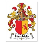 Hirschfeld Family Crest Small Poster