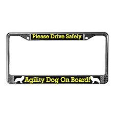 Cavalier Agility Dog License Plate Frame