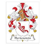 Hertenstein Family Crest Small Poster