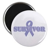 "Lavender Ribbon Survivor 2.25"" Magnet (100 pack)"