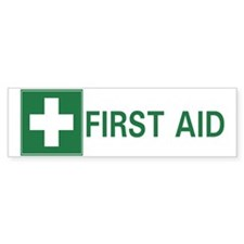 First Aid Bumper Bumper Sticker