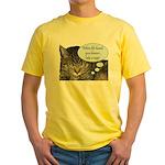CAT NAP HUMOR Yellow T-Shirt