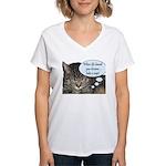CAT NAP HUMOR Women's V-Neck T-Shirt
