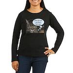 CAT NAP HUMOR Women's Long Sleeve Dark T-Shirt