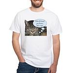 CAT NAP HUMOR White T-Shirt