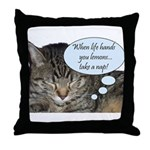 CAT NAP HUMOR Throw Pillow