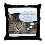CAT NAP HUMOR Throw Pillow