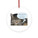 CAT NAP HUMOR Ornament (Round)