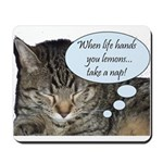 CAT NAP HUMOR Mousepad