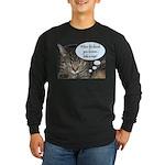 CAT NAP HUMOR Long Sleeve Dark T-Shirt