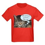 CAT NAP HUMOR Kids Dark T-Shirt