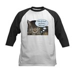 CAT NAP HUMOR Kids Baseball Jersey