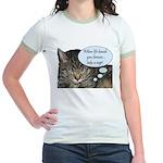 CAT NAP HUMOR Jr. Ringer T-Shirt