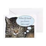 CAT NAP HUMOR Greeting Card