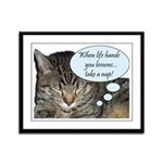 CAT NAP HUMOR Framed Panel Print