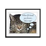 CAT NAP HUMOR Framed Panel Print
