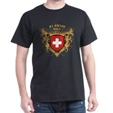 Number One Swiss Dad T-Shirt