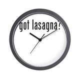 got lasagna? Wall Clock