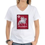 Knights Templar Women's V-Neck T-Shirt