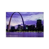 St. Louis Skyline Rectangle Magnet