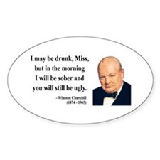 Winston Churchill 13 Oval Decal