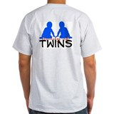 """Daddy of twins"" BOYS Ash Grey T-Shirt"