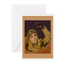 Aviatrix Greeting Cards-Tan (Pk of 10)