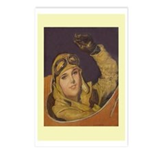 Aviatrix Postcards-Yellow (Package of 8)