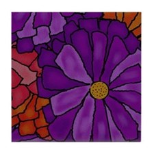 Gerber Daisy Bouquet Tile Coaster