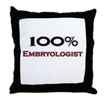 100 Percent Embryologist Throw Pillow